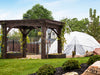 Image of Harvest Right Geodesic Greenhouse in a garden from the front