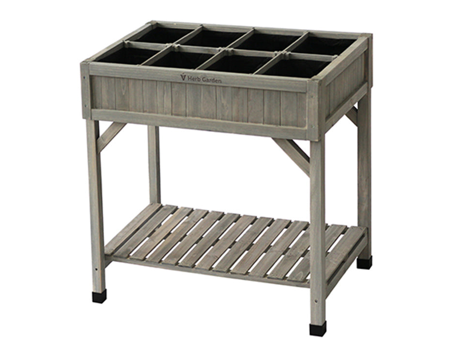 VegTrug Herb Garden Planter. Grey wash color