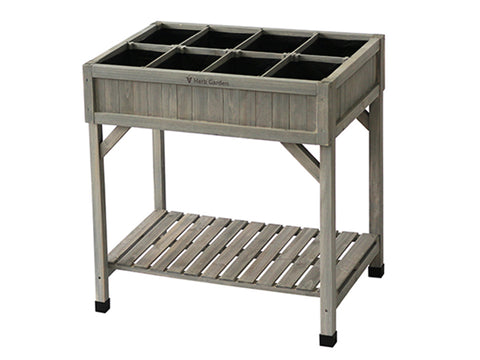 Image of VegTrug Herb Garden Planter. Grey wash color