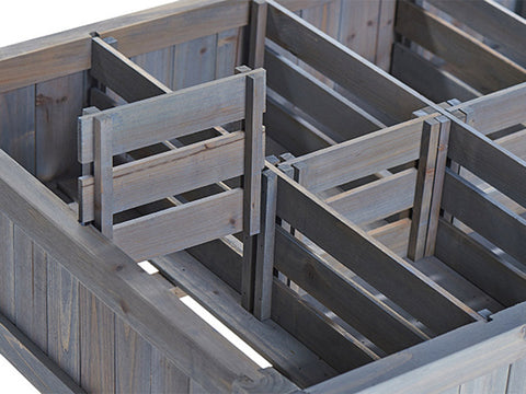 Image of VegTrug Herb Garden Planter attaching the divider