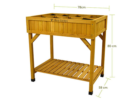 Image of VegTrug Herb Garden Planter with dimensions