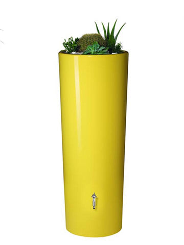 Image of High Gloss Elegance Rain Barrel with Planter