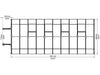 Image of Rion Hobby Gardener 2 Twin Wall 8ft x 20ft Hobby Greenhouse HG7120 - top view of framework with dimensions