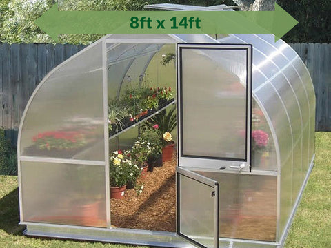 Image of Hoklartherm Riga 4s Greenhouse 8x14