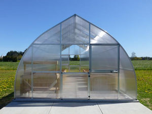 Hoklartherm Riga XL 5 Greenhouse 14x16 front view with upper door open