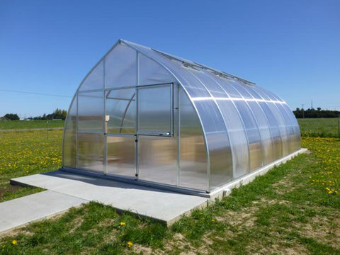 Hoklartherm Riga XL 8 Greenhouse 14x26 front and side view