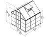 Image of Palram Hybrid 6ft x 6ft Hobby Greenhouse-HG5506(G) - full view  of framework with dimensions