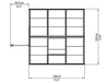 Image of Palram Hybrid 6ft x 6ft Hobby Greenhouse-HG5506(G) - top view  of framework with dimensions