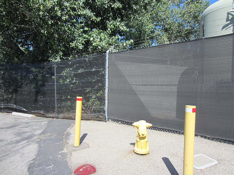 Riverstone Black Woven Shade Cloth as a Privacy Fence
