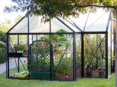 Side view of the Janssens T-Shaped Junior Victorian Orangerie 10ft x 13ft