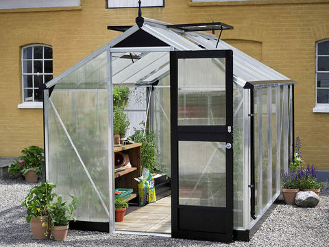 Image of 10 mm Polycarbonate glazing Aluminum Juliana Compact Greenhouse 7ft x 12ft