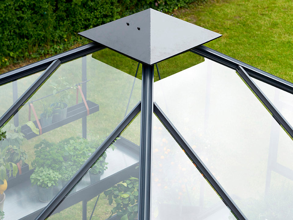 Juliana Oase Anthracite Toughened Glass 12ft x 12ft. Roof