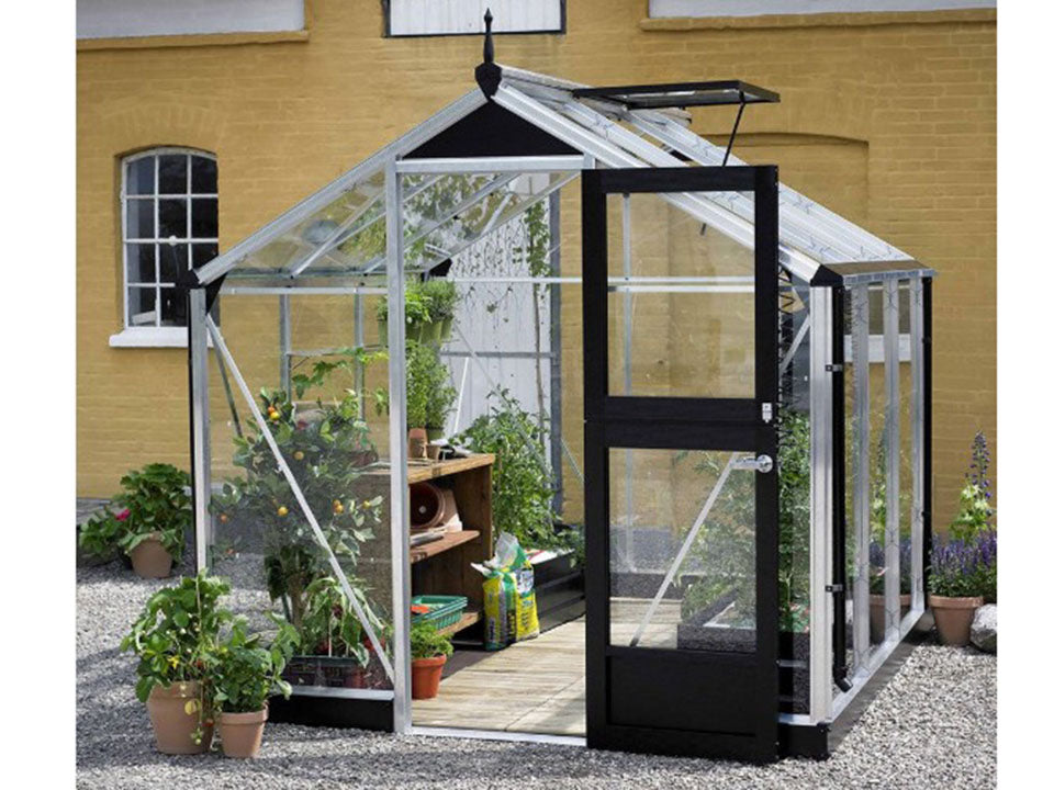 Juliana Compact Greenhouse 7ft x 7ft Aluminum/Black