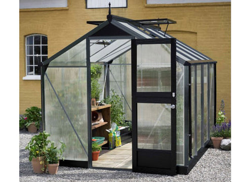 Image of Juliana Compact Greenhouse Anthracite/Black 10 mm Polycarbonate