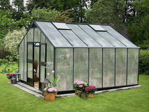 Image of Juliana Gardener Greenhouse 12ft x 14ft - anthracite - 10mm polycarbonate