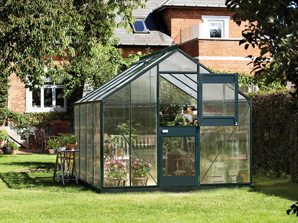 Juliana Junior Greenhouse 9ft x 10ft - Anthracite 6 mm Polycarbonate