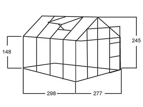 Juliana Junior Greenhouse 9ft x 10ft - framework -  white background