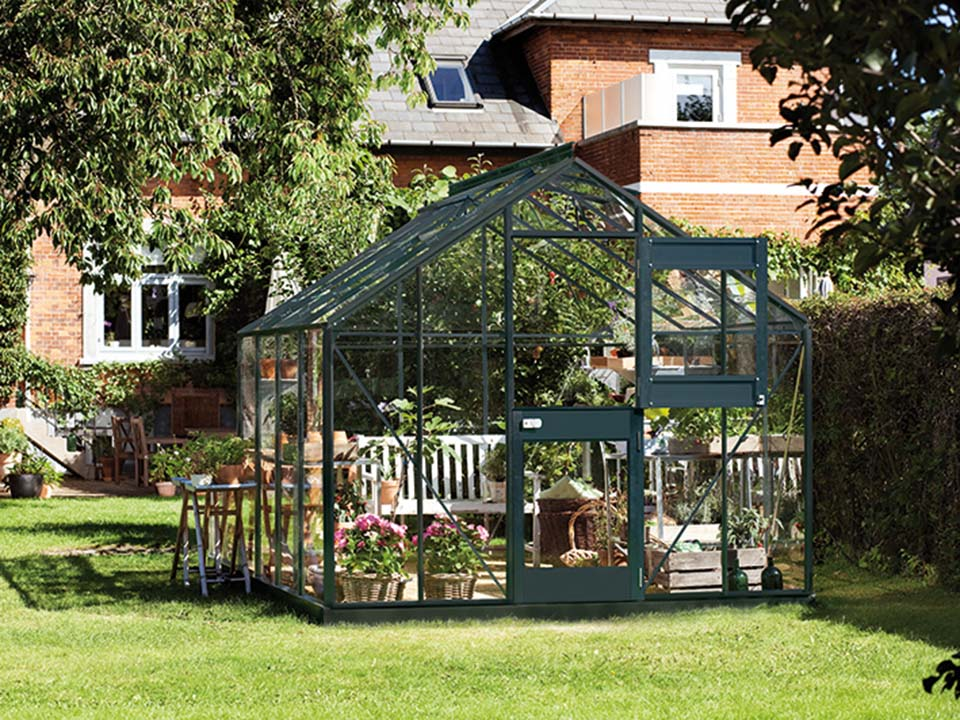 Juliana Junior Greenhouse 9ft x 10ft - Anthracite 3 mm Horticultural Glass