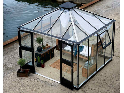 Image of Juliana Oasis Greenhouse 10ft x 10ft Aluminum Top View