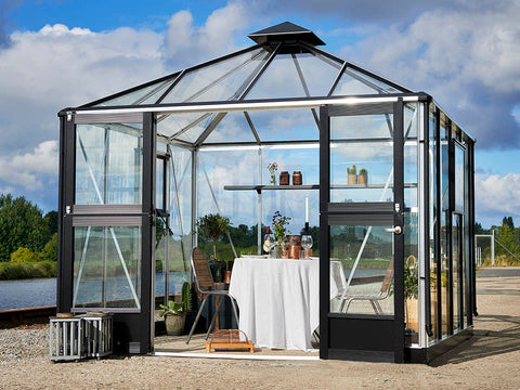Image of Juliana Oasis Greenhouse 10ft x 10ft Aluminum Outdoor setting