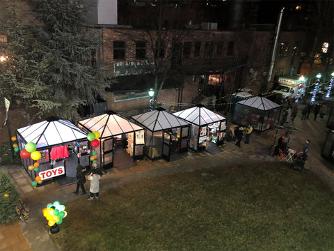 Image of Top view of Juliana 10x10 Polycarbonate in a Christmas fair