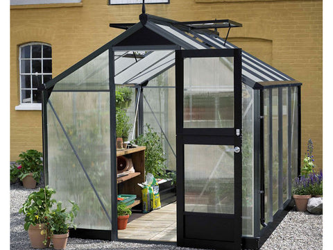 Image of 10 mm Polycarbonate glazing Anthracite Juliana Compact Greenhouse 7ft x 12ft