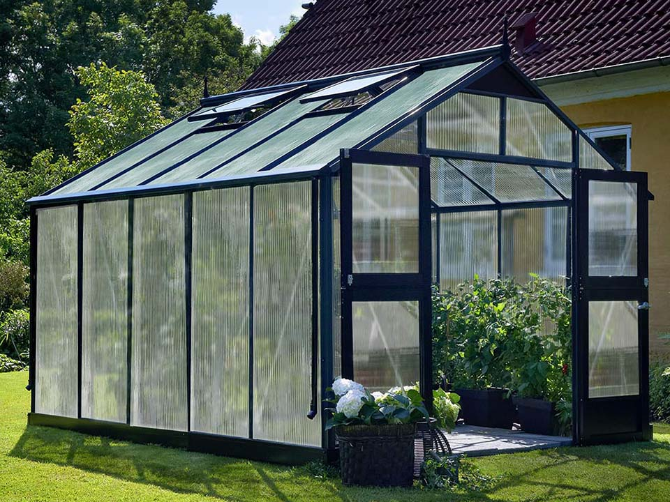 Juliana Premium 10ft x 12ft Anthracite 10 mm Polycarbonate