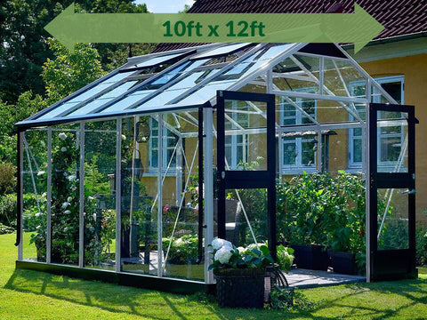 Image of Alu/Black Juliana Premium Greenhouse 10ft x 12ft