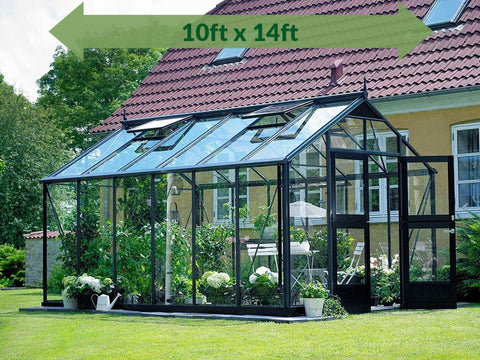 Image of Anthracite/Black Juliana Oasis Greenhouse 10ft x 14ft