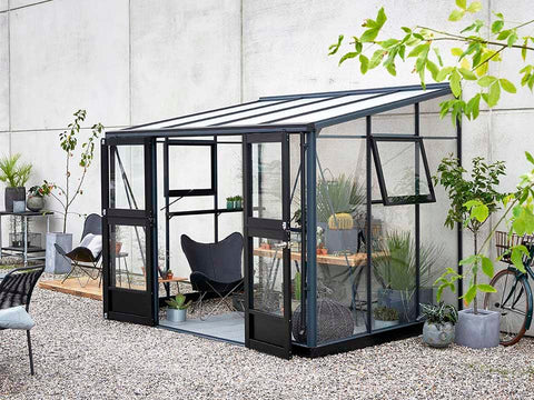 Image of Juliana Veranda Greenhouse 10ft x 7ft anthracite