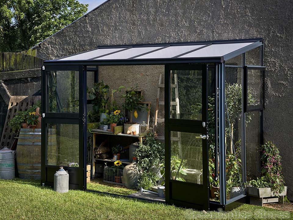 Juliana Veranda Lean-To Greenhouse 10ft x 5ft