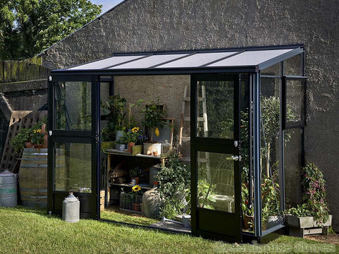 Image of Juliana Veranda Lean-To Greenhouse 10ft x 5ft