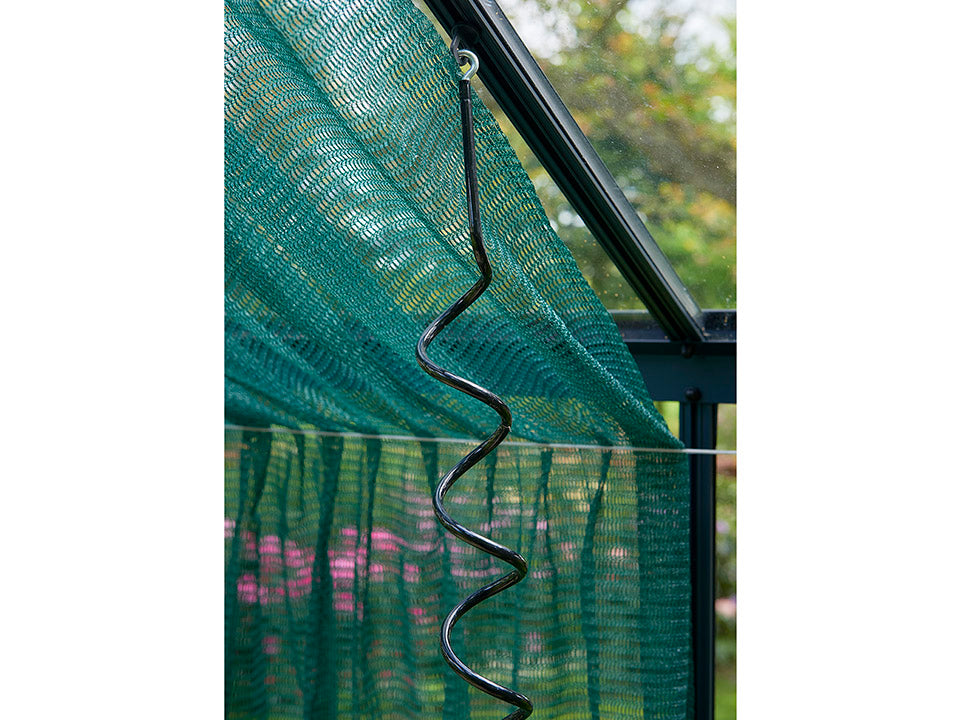 Juliana Flexible Plant Spiral installed on greenhouse frame