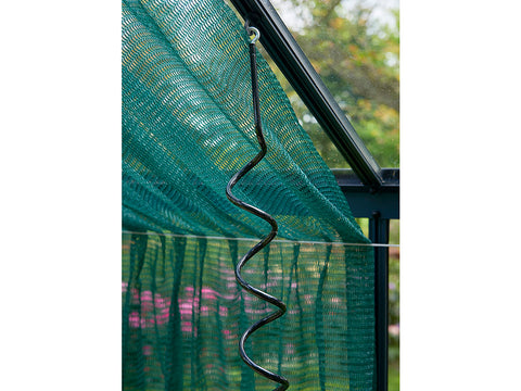 Image of Juliana Flexible Plant Spiral installed on greenhouse frame