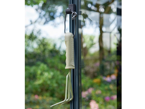 Image of Gardening tool hanging on a Juliana Greenhouse Frame Hook