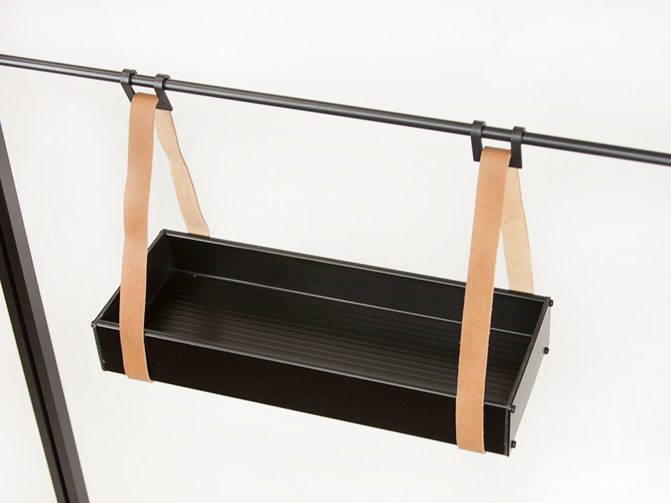Small Juliana Hanging Shelf with Leather Straps