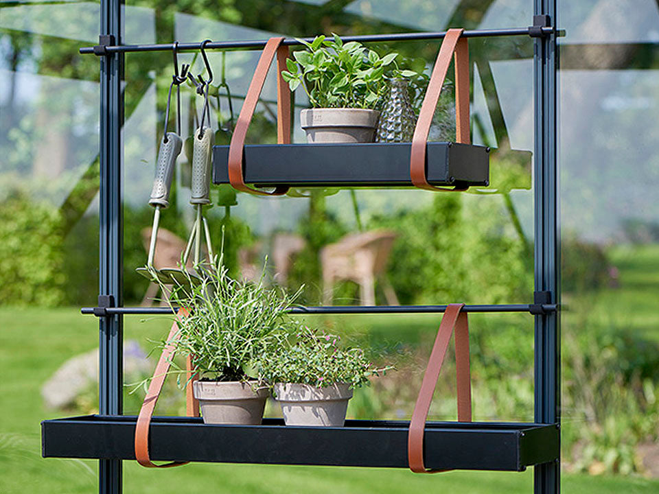 Juliana Hanging Shelves with Leather Straps in two sizes