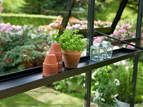 Image of Juliana Narrow Top Shelf with pots