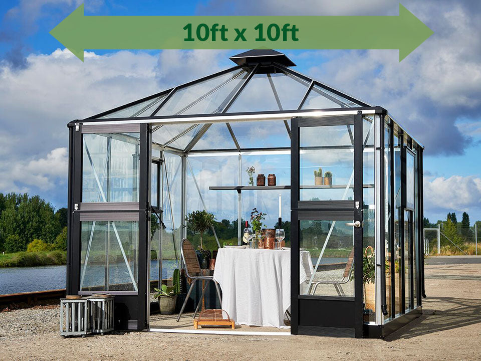 Anthracite/Black Juliana Oasis Greenhouse 10ft x 10ft