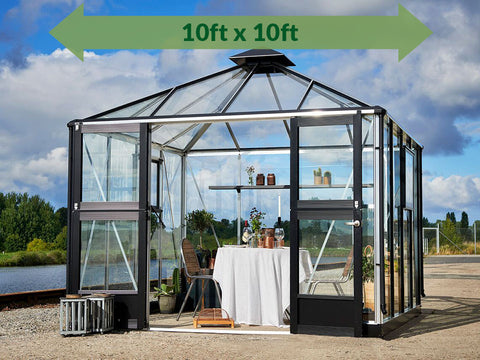 Image of Anthracite/Black Juliana Oasis Greenhouse 10ft x 10ft