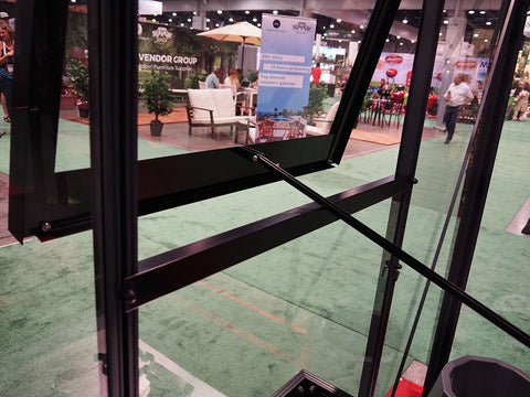 Image of Push out window on the side of the Juliana Oasis Greenhouse