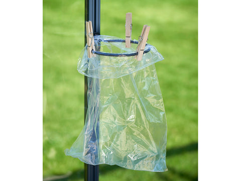 Image of Juliana Greenhouse Plant Pot & Tool Holder with a plastic bag instead of a pot