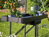Black seed tray shelf for greenhouses from Juliana