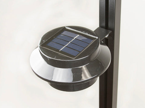 Image of Installed Juliana Greenhouse Interior Solar Light with white background
