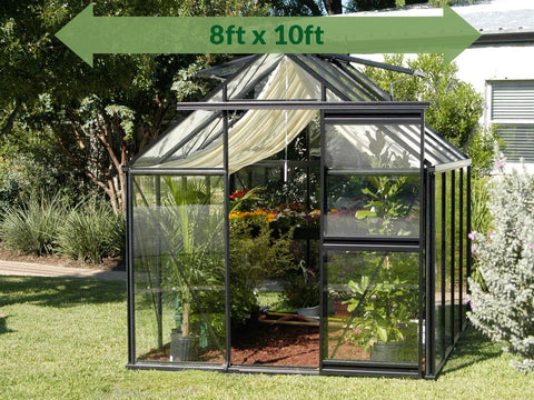 Image of Frontal view of the Janssens Junior Victorian J-VIC 23 Greenhouse 8ft x 10ft