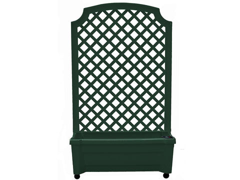 Calypso Planter with Trellis and Reservoir - Green