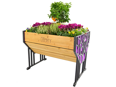 Image of Purple Liberty VegTrug Raised Bed Planter with plants