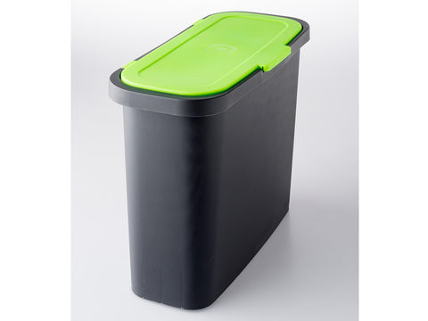 Image of Maze Kitchen Caddie Compost Bin 2.4 gal with closed lid from back side