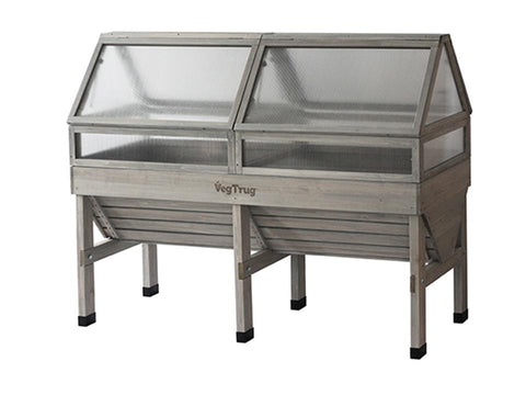 Image of Medium, Grey color Cold Frame for VegTrug Planter
