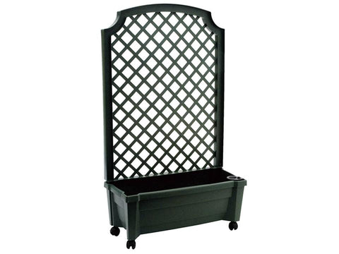 Image of Calypso Planter with Trellis and Reservoir - Metallic Grey